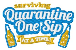 One Sip At A Time embroidery design