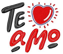 Te Amo Heart embroidery design