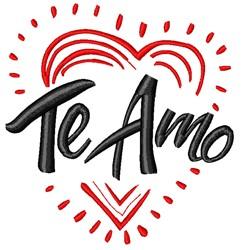 Decorative Te Amo embroidery design