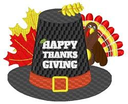 Thanksgiving Pilgrim Hat embroidery design