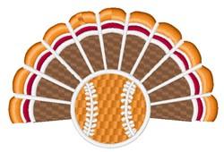 Baseball Turkey embroidery design