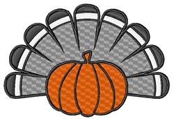 Pumpkin Turkey embroidery design
