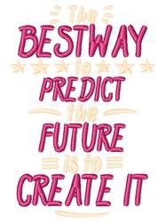 Create The Future embroidery design
