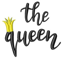 The Queen embroidery design