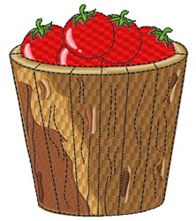 Bucket Of Tomatoes embroidery design