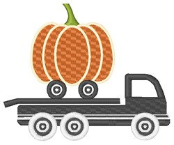 Pumpkin Delivery Truck embroidery design