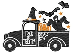 Halloween Pick Up embroidery design