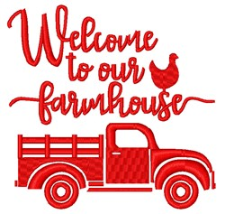 Welcome To Our Farmhouse embroidery design