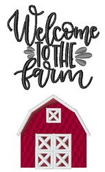 Welcome To The Farm embroidery design