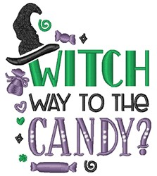 Wheres The Halloween Candy? embroidery design