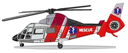 Rescue Helicopter embroidery design