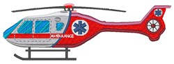 Medical Helicopter embroidery design