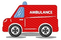 Cartoon Ambulance embroidery design