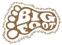 Big Foot Foot Print embroidery design