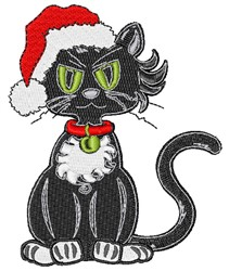 Grumpy Christmas Cat embroidery design