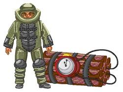 Bomb Explosion Technician embroidery design