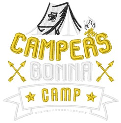 Tent Campers Gonna Camp embroidery design
