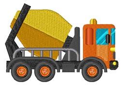 Cement Concrete Truck embroidery design