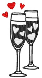 Valentines Day Toast embroidery design