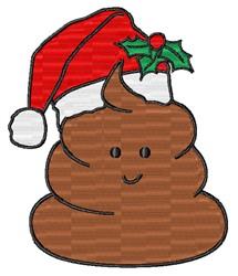 Santa Poop Emoji embroidery design