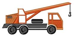 Crane Truck embroidery design