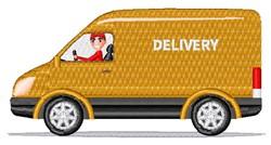 Delivery Van embroidery design