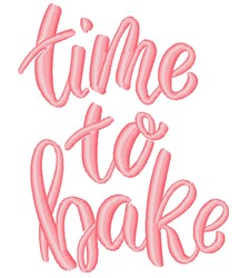 Time To Bake embroidery design