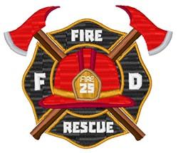 Fire Rescue Maltese embroidery design