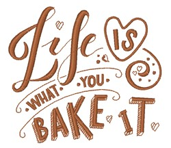 What You Bake It embroidery design