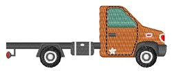 Flat Bed Truck embroidery design