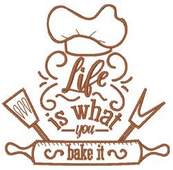 Bake Life embroidery design