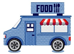 Food Truck embroidery design