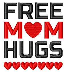 Free Mom Hugs embroidery design