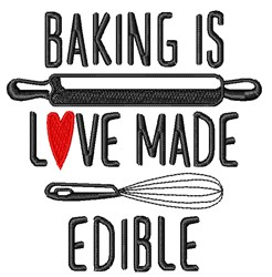 Love Made Edible embroidery design