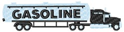 Gasoline Tanker Truck embroidery design