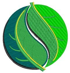 Leafy Yin Yang embroidery design