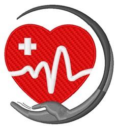 Heartbeat Care Logo embroidery design