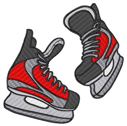 Hockey Ice Skates embroidery design