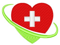 Red Cross Heart embroidery design