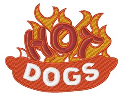 Hot Dogs embroidery design