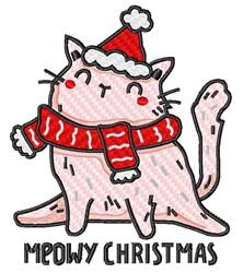 Cartoon Meowy Christmas embroidery design
