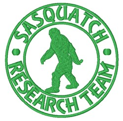 Sasquatch Research Team embroidery design