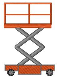 Scissor Lift embroidery design