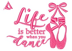 Life Dance embroidery design