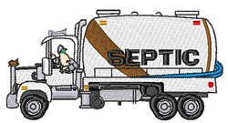 Septic Truck embroidery design