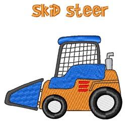 Skid Steer embroidery design