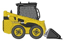 Realistic Forklift embroidery design