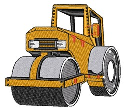 Realistic Steam Roller embroidery design