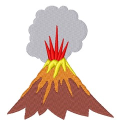 Exploding Volcano embroidery design