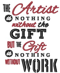 Nothing Without The Gift embroidery design